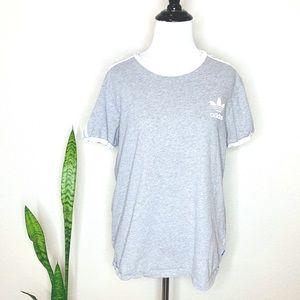 adidas Tops - 🌻ADIDAS Women's Gray 3 Stripe Tee EUC